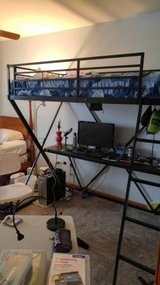 Loft bed with Desk LIKE NEW CONDITION in Plainfield, Illinois
