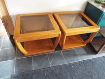Table*Pair*End/Coffee*Bevel Tint Glass*Heavy Duty in Fort Leonard Wood, Missouri