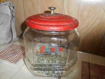Vintage Lance Crackers / Snacks Glass Jar with the Original  Red Metal Lid in Bellaire, Texas