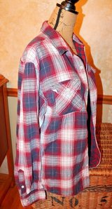 Urban Pipeline Burgandy Plaid Shirt, 100% Cotton, Large in Glendale Heights, Illinois