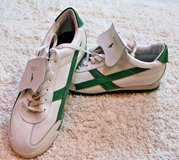 POLO Ralph Lauren Leather Lace Up Shoes, White/Green, Men's Sz 5.5/Women's Sz 7.5 in Glendale Heights, Illinois