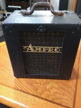 vintage ampro art deco speaker ~ beige emblem~tested & working in Orland Park, Illinois