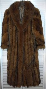 Vintage Sz Small / Med Full Length Tanuki Japanese Raccoon Fur Coat in Naperville, Illinois