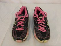 children youth girl skechers sport black green pink athletic tennis shoes 31638 in Fort Carson, Colorado