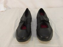 adult womens skechers work black slip resistant sole strap slip on shoes 31637 in Fort Carson, Colorado