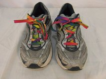 adult womens saucony guide 2 gray blue rainbow laces running tennis shoes 31636 in Fort Carson, Colorado