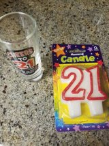 Turning 21 new candle and shot glass in Temecula, California