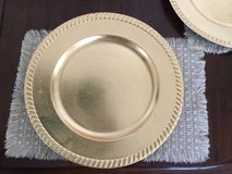 8 Gold Chargers for dinnerware / plates / dishes / decorative in Schaumburg, Illinois