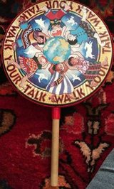 "Remo Percussion Arts Hand Drum Walk Your Talk With Wooden Handle 10"" in Wheaton, Illinois"