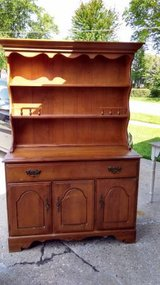 Maple China Cabinet Buffet/Hutch in New Lenox, Illinois