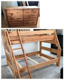 Pine-Sundance Twin/Full Bunk Bed + 6 Drawer Dresser in Westmont, Illinois
