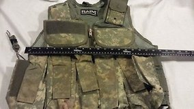 rap4 real action paintball us army acu pattern multi pocketed adjustable vest  02430 in Huntington Beach, California