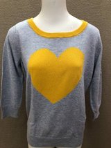 Women's Sweater Valentines Day size L yellow heart in Naperville, Illinois