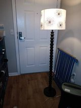 Beautiful Dark Wood Stand Up Lamp with Gorgeous Shade in Roseville, California
