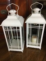 ~TWO WHITE TALL DECORATIVE LANTERNS~20 FOR BOTH in Plainfield, Illinois