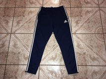 Men's adidas climacool sweat pants size xl black with white stripes in Fairfax, Virginia