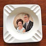 vintage, hipster, president & mrs lyndon b. johnson ashtray in Houston, Texas