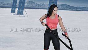 demi lovato exercising with heavy rope training glossy 8x10 photo hd cinescope in Fort Carson, Colorado