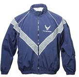 usaf air force pt physical fitness old style zip up large long lined jacket  02638 in Fort Carson, Colorado