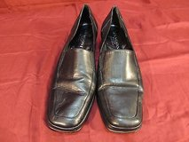 rangoni firenze made in italy black leather square toe heels sz 8.5 b wc 12138 in Fort Carson, Colorado