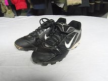 mens nike black and gray football cleats size 7.5 with a nike power channel 3453 in Huntington Beach, California
