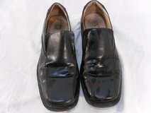 black leather shoes by canda, womens size 9.5 used/ pre-owned 110202 in Fort Carson, Colorado