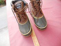 mens pre-owned polar edge dupont thermolite  7 steel shank tie boots 60440 in Fort Carson, Colorado