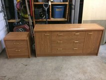 Laminate wood dresser and night stand in Plainfield, Illinois