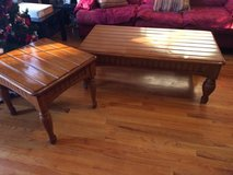 Solid wood coffee table with end table in Plainfield, Illinois