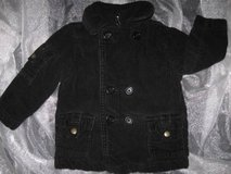 Boys Black Corduroy Thick Winter Coat size 24M in Silverdale, Washington