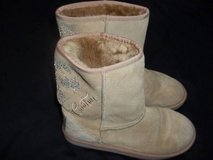 Juicy Couture Short Tan Shearling Boots size 7 Women's in Silverdale, Washington