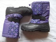 Kamik Girl size YOUTH 3 Purple & Black Pattern Snowboot Rated to -25°F in Silverdale, Washington