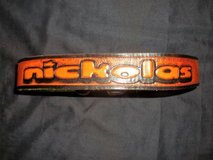"NEW! Brown Boys Hand Tooled Leather Belt w/ the Name ""NICKOLAS"" in Silverdale, Washington"