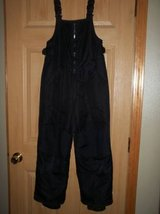 Lands End Black Kids size 10 Snowbibs in Silverdale, Washington