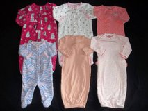 Baby Girls Newborn, 3M, 6M Sleeper Pajamas Lot in Silverdale, Washington