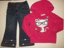 Girls size 3T winter clothes outfit  - - Cat wearing glasses - so cute in Fort Lewis, Washington