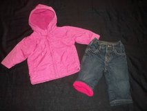 Baby Girls Old Navy Fleece Lined Jeans and Winter Coat size 3-6M in Tacoma, Washington