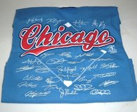NEW w Tags MLB Chicago Cubs TEAM SIGNATURE T-Shirt Mens World Series Champs Avail Sz Small & Large in Plainfield, Illinois