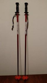 Kerma Ski Poles - Red - 110 cm / 44 inches in Bartlett, Illinois