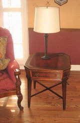 2 Matching Antique Wood End Tables in Naperville, Illinois