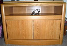 "Wood TV Stand - turntable top - 1 shelf and storage underneath- 34""W in Joliet, Illinois"