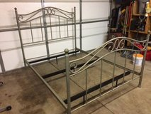 Steel queen head and foot board with frame in Joliet, Illinois
