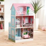 Baby Girl Toy Teamson Kids Posh 2-IN-1 Kitchen Dollhouse in Bolingbrook, Illinois