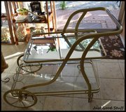GOLD CART WITH A MIRROR SHELF in The Woodlands, Texas