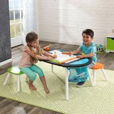 Baby Girl Boy Toy KidKraft Deluxe Chalkboard Art Table with Stools in Lockport, Illinois