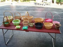 """13"" Wicker Baskets Metal Easter w/ Straw All for 1 Price CHEAP!! in Brookfield, Wisconsin"