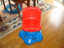 LITTLE TIKES CHILD SIZE ART DESK VANITY SWIVEL CHAIR BLUE RED in Brookfield, Wisconsin