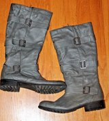 Naturalizer Grey Boots w/Buckle Details, Side Zip, Size 8M in Wheaton, Illinois