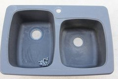 Franke Granite Graphite Moulded Dual Bowl Sink in Naperville, Illinois