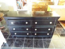 Dresser*Six Drawers*New Paint*Black*Metal Slides in Fort Leonard Wood, Missouri